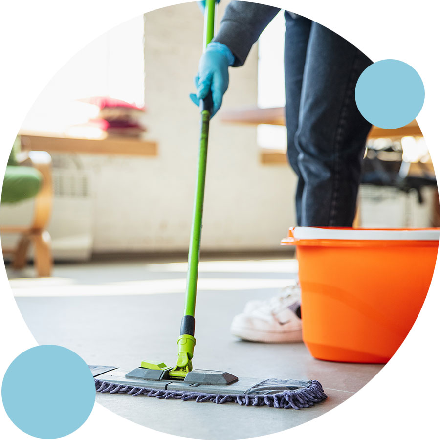 Mopping for New Construction Cleaning Bubble | Perfect Cleaners Janitorial Services, Inc.